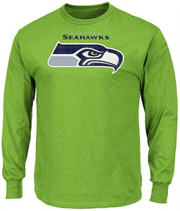 100% authentic 05870 8c15d Seattle Seahawks Adult Green Critical Victory 2 Majestic ...