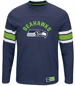 more photos fff53 37089 Seattle Seahawks Adult Navy Power Hit 2 Long Sleeve T Shirt ...
