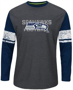 Seattle Seahawks Mens Down To The Wire Long Sleeve Thermal Shirt by Majestic