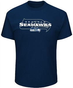 Seattle Seahawks Mens Navy Pick Six T Shirt