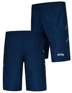 728eb8a5 Seattle Seahawks Mens Navy Team Pride Majestic Synthetic Shorts ...