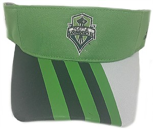 Seattle Sounders Adidas Authentic Team Synthetic Visor
