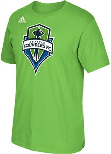 Seattle Sounders Green Adidas Climalite Ultimate Logo Set T Shirt