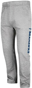 Seattle Seahawks Mens Grey Critical Victory 8 Open Bottom Sweatpants