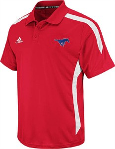 SMU Mustangs 2012 Coaches Sidelines Climalite Performance Polo Shirt by Adidas