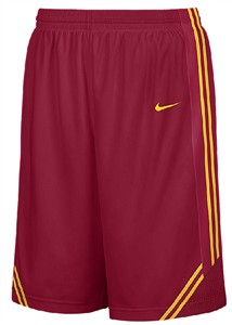 Southern Cal Trojans College Crimson 12� Inseam Embroidered Player Replica Basketball Short By Nike Team Sports