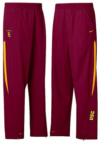 Southern California Trojans Crimson Nike College Polyester Gridiron Sidelines Pants on Sale