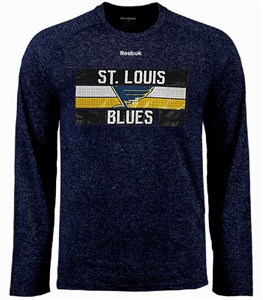 St. Louis Blues Mens Reebok Name In Lights Ultimate Supremium Synthetic Long Sleeve Shirt