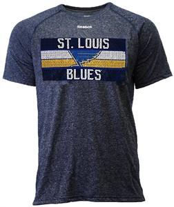 St. Louis Blues Reebok Heather Blue Name In Lights Synthetic Ultimate T Shirt