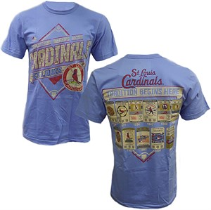 St. Louis Cardinals Lt. Blue Mens Game Obsessed Tee Shirt by Majestic