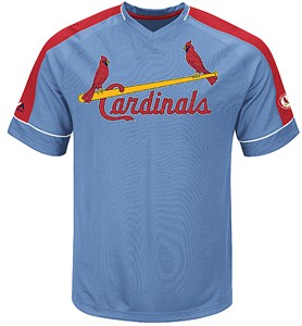 St. Louis Cardinals Mens Winning Tandem Cooperstown Synthetic V Neck Jersey by Majestic