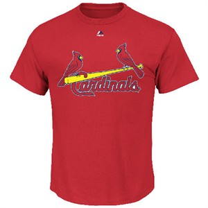 St. Louis Cardinals Official Wordmark II Short Sleeve T Shirt by Majestic
