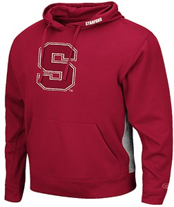 Stanford Cardinal Cardinal Chrome Embroidered Synthetic Poly Hoodie Sweatshirt