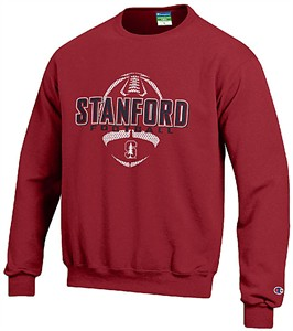 Stanford Cardinal Cardinal Football Powerblend Screened Crew Sweatshirt by Champion