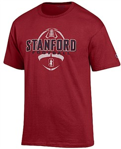 Stanford Cardinal Cardinal Football Short Sleeve T Shirt by Champion