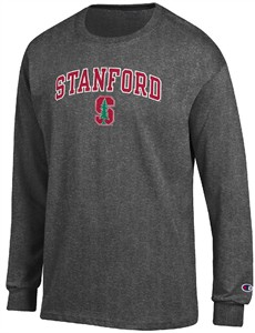 Stanford Cardinal Granite Heather Champion Campus Long Sleeve Tee Shirt on Sale