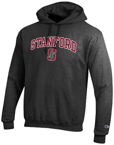 Stanford Cardinal Granite Heather Champion Campus Powerblend Screened Hoodie Sweatshirt
