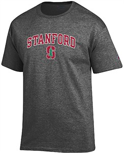 Stanford Cardinal Granite Heather Champion Campus Short Sleeve Tee Shirt