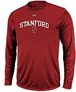 Stanford Cardinal Poly Dry HeatGear NuTech Long Sleeve Shirt by Under Armour