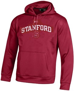 Stanford Cardinal Under Armour Synthetic Performance ColdGear Hooded Sweatshirt