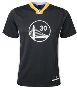 Stephen Curry Youth Golden State Warriors Black Short Sleeve Replica Basketball Jersey