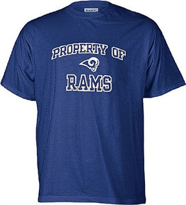 St. Louis Rams Youth NFL Embroidered Short Sleeve Tee Shirt By Reebok