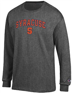Syracuse Orange Granite Heather Champion Campus Long Sleeve Tee Shirt