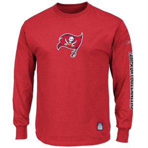 check out 51585 f4ee4 Tampa Bay Buccaneers Red Southpaw Long Sleeve Tee Shirt By ...