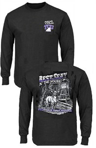 TCU Horned Frogs Black Long Sleeve Deer Hunter T Shirt