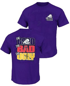 TCU Horned Frogs Mens The Good Bad Ugly Purple Short Sleeve T Shirt