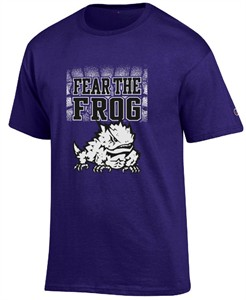 TCU Horned Frogs Purple Champion Fear The Frog T Shirt