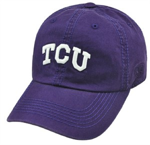 TCU Horned Frogs Purple Crew Relaxed Crown Crew Adjustable Hat