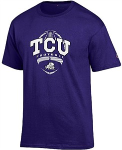 TCU Horned Frogs Purple Football Short Sleeve T Shirt by Champion