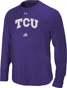 TCU Horned Frogs Purple Poly Dry HeatGear NuTech LS Shirt by Under Armour