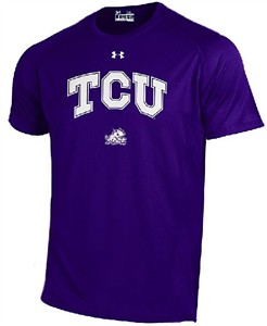 TCU Horned Frogs Purple Poly Dry HeatGear NuTech Performance Shirt by Under Armour