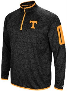 Tennessee Volunteers Black Amnesia Quarter/Zip Pullover Synthetic Windshirt