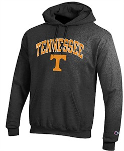 Tennessee Volunteers Granite Heather Champion Campus Powerblend Screened Hoodie Sweatshirt