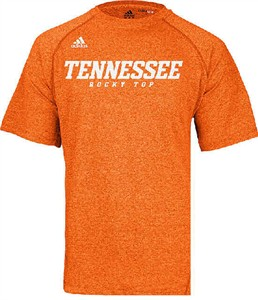 Tennessee Volunteers Heather Orange Climalite Slogan Sidelines Top by Adidas