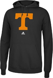 Tennessee Volunteers Mens Black Versa Logo Hooded Sweatshirt by Adidas