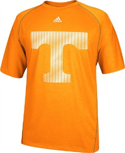 Tennessee Volunteers Orange Razor Logo Performance T Shirt by Adidas