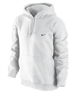 Nike White Fleece Hooded Sweatshirt  6a67bb877
