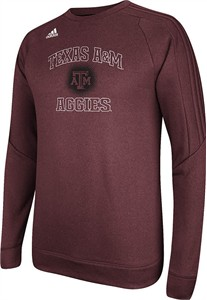 Texas A&M Aggies Adidas Climawarm Synthetic Ultimate Tech Crew