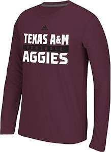 Texas A&M Aggies Adidas Ultimate Synthetic Performance Long Sleeve Shirt