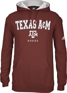 5e159deca Texas A&M Aggies Embroidered Adidas Playbook 3 Mens Hooded Sweatshirt | Texas  A&M Aggies View All Apparel