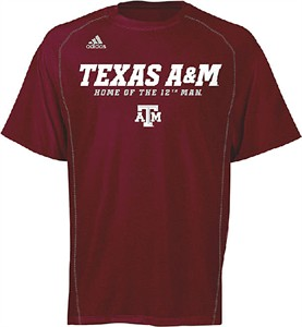 Texas A&M Aggies Heather Maroon Climalite Slogan Sidelines Top by Adidas
