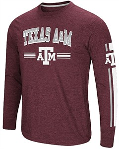 Texas A&M Aggies Maroon Colosseum Touchdown Pass Long Sleeve T Shirt