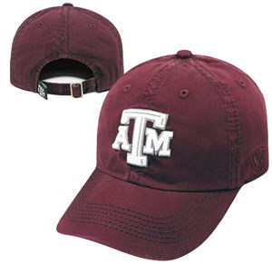 Texas A&M Aggies Maroon Crew Relaxed Crown Crew Adjustable Hat