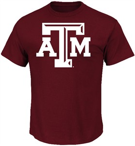 Texas A&M Aggies Maroon Icon College T Shirt by Majestic