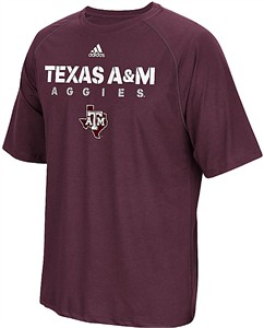 Texas A&M Aggies Maroon Sideline 2017 Adidas Climalite Polyester Synthetic T Shirt