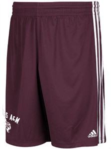 Texas A&M Aggies Mens Adidas Climalite Shorts-United Arch-Maroon